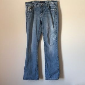 Distressed Altered Bleached Jeans Size 10
